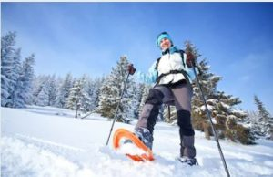 marche nordique hiver en raquette