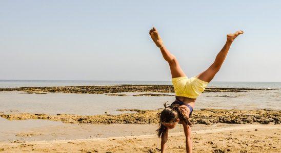 une jeune fille pleine d'energie
